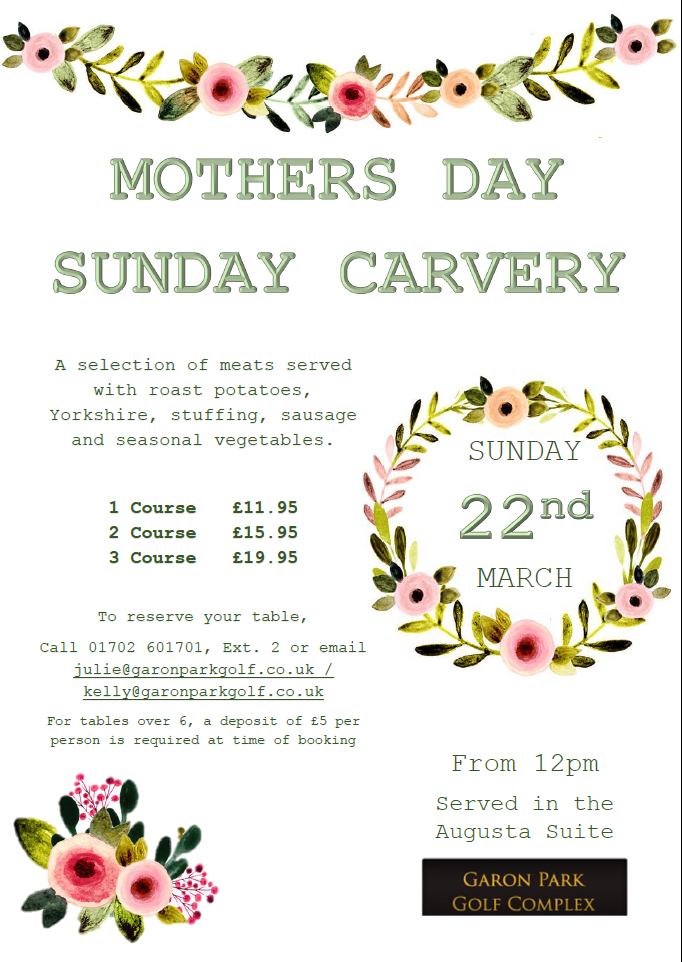 Mothers Day carvery 2020